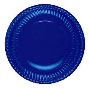 Piatto Carta Portata Blu           Cm 30 Pz 6 Bibo