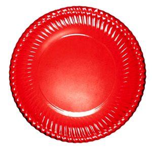 Piatto Carta Portata Rosso         Cm 30 Pz 6 Bibo